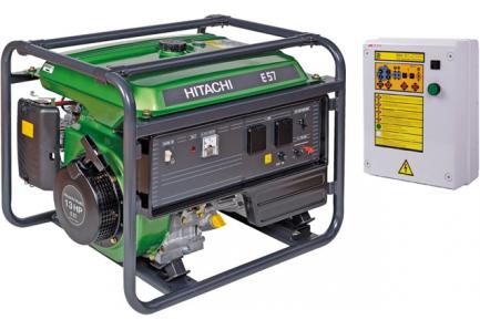Бензиновый генератор Hitachi E 57 S с АВР