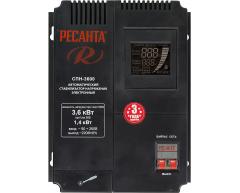 Стабилизатор напряжения электронный Ресанта СПН 3600