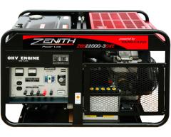 Бензиновый генератор Zenith ZBS 22000-3 DXE