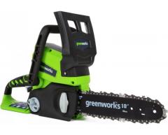 Цепная пила аккумуляторная Greenworks G 24 CS 25