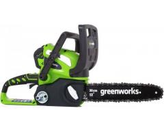 Цепная пила аккумуляторная Greenworks G 40 CS 30