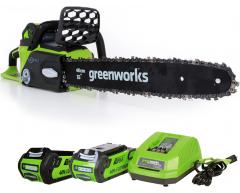 Цепная пила аккумуляторная Greenworks GD 40 CS 40 K2X